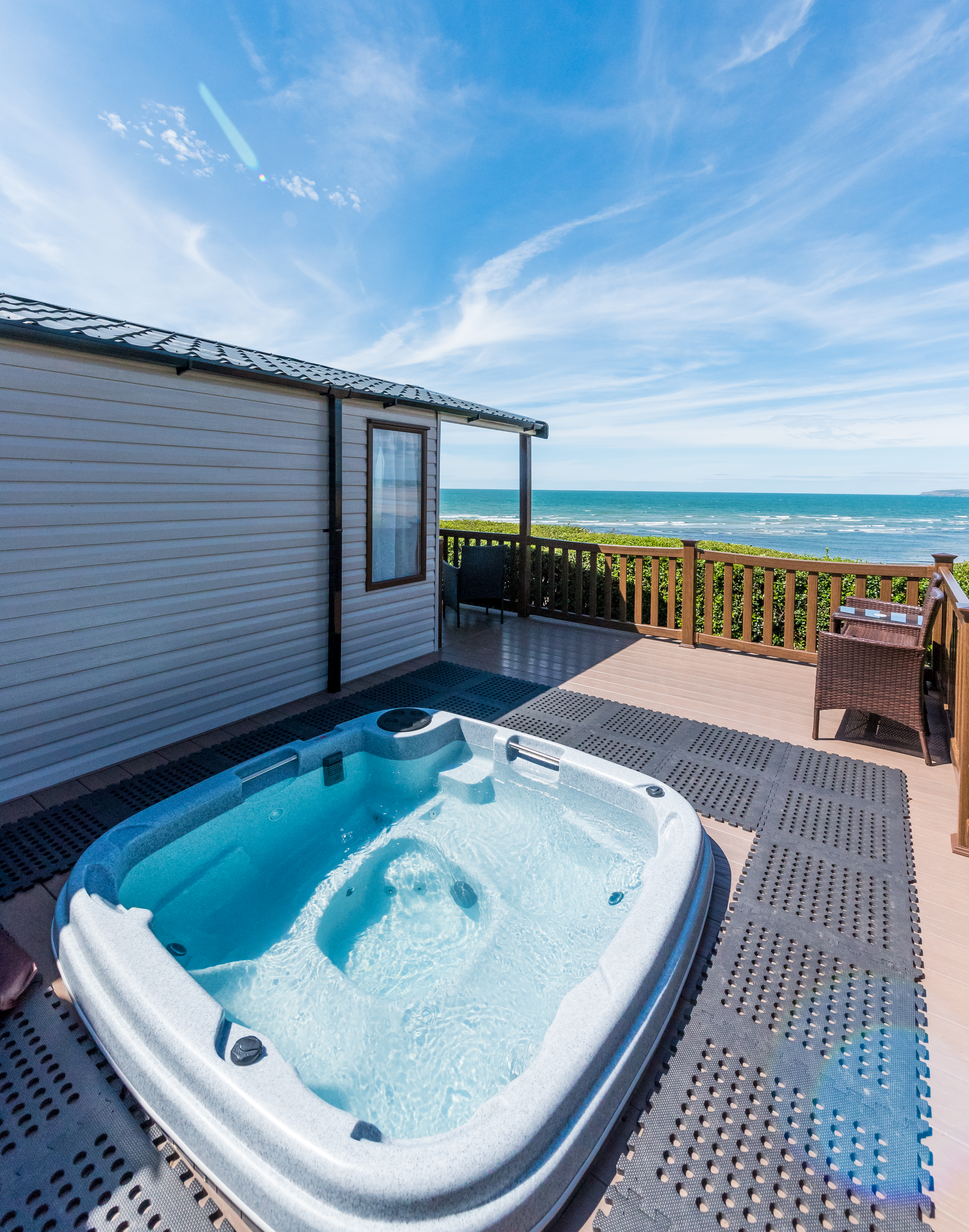 Holiday accommodation with hot tubs